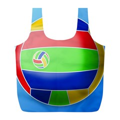 Balloon Volleyball Ball Sport Full Print Recycle Bags (l)  by Nexatart