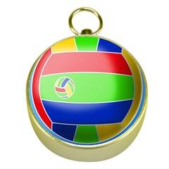 Balloon Volleyball Ball Sport Gold Compasses by Nexatart