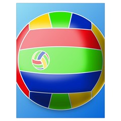 Balloon Volleyball Ball Sport Drawstring Bag (large) by Nexatart
