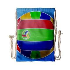 Balloon Volleyball Ball Sport Drawstring Bag (small) by Nexatart