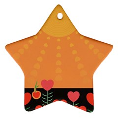 Love Heart Valentine Sun Flowers Star Ornament (two Sides)