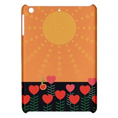 Love Heart Valentine Sun Flowers Apple Ipad Mini Hardshell Case