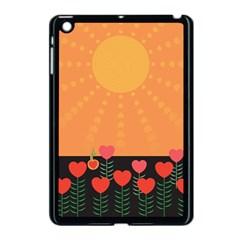 Love Heart Valentine Sun Flowers Apple Ipad Mini Case (black)