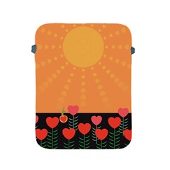 Love Heart Valentine Sun Flowers Apple Ipad 2/3/4 Protective Soft Cases by Nexatart