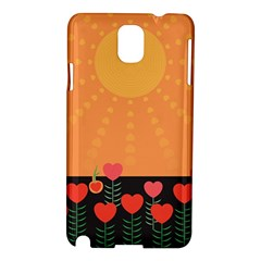 Love Heart Valentine Sun Flowers Samsung Galaxy Note 3 N9005 Hardshell Case