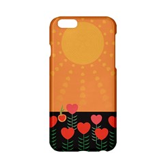 Love Heart Valentine Sun Flowers Apple Iphone 6/6s Hardshell Case by Nexatart
