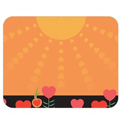 Love Heart Valentine Sun Flowers Double Sided Flano Blanket (medium)