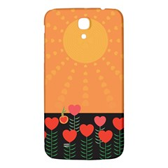 Love Heart Valentine Sun Flowers Samsung Galaxy Mega I9200 Hardshell Back Case by Nexatart