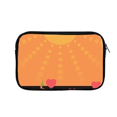 Love Heart Valentine Sun Flowers Apple Macbook Pro 13  Zipper Case by Nexatart