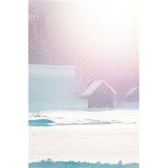Winter Day Pink Mood Cottages 5 5  X 8 5  Notebooks by Nexatart