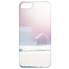 Winter Day Pink Mood Cottages Apple Iphone 5 Classic Hardshell Case