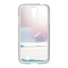 Winter Day Pink Mood Cottages Samsung Galaxy S4 I9500/ I9505 Case (white)