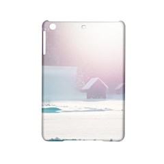 Winter Day Pink Mood Cottages Ipad Mini 2 Hardshell Cases by Nexatart
