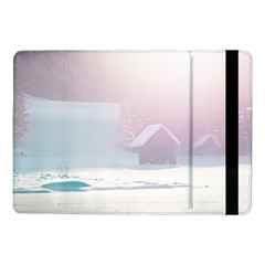 Winter Day Pink Mood Cottages Samsung Galaxy Tab Pro 10 1  Flip Case