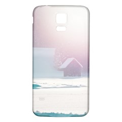 Winter Day Pink Mood Cottages Samsung Galaxy S5 Back Case (white) by Nexatart