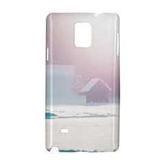 Winter Day Pink Mood Cottages Samsung Galaxy Note 4 Hardshell Case by Nexatart