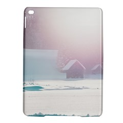 Winter Day Pink Mood Cottages Ipad Air 2 Hardshell Cases by Nexatart