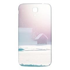 Winter Day Pink Mood Cottages Samsung Galaxy Mega I9200 Hardshell Back Case by Nexatart