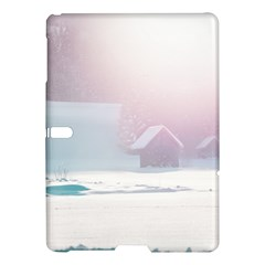 Winter Day Pink Mood Cottages Samsung Galaxy Tab S (10 5 ) Hardshell Case  by Nexatart
