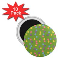 Balloon Grass Party Green Purple 1 75  Magnets (10 Pack)  by Nexatart