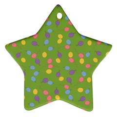 Balloon Grass Party Green Purple Star Ornament (two Sides) by Nexatart