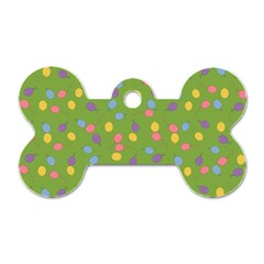 Balloon Grass Party Green Purple Dog Tag Bone (two Sides)