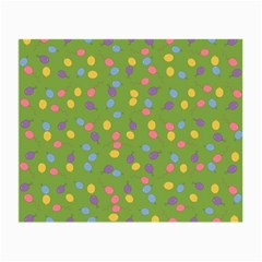 Balloon Grass Party Green Purple Small Glasses Cloth (2 Side) by Nexatart