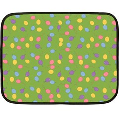 Balloon Grass Party Green Purple Fleece Blanket (mini) by Nexatart