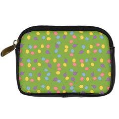 Balloon Grass Party Green Purple Digital Camera Cases by Nexatart