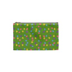 Balloon Grass Party Green Purple Cosmetic Bag (small)  by Nexatart