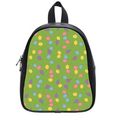 Balloon Grass Party Green Purple School Bags (small)  by Nexatart