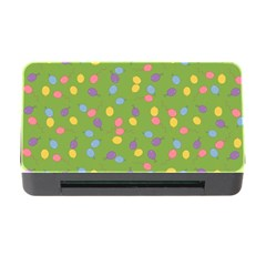Balloon Grass Party Green Purple Memory Card Reader With Cf by Nexatart