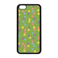 Balloon Grass Party Green Purple Apple Iphone 5c Seamless Case (black) by Nexatart