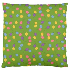Balloon Grass Party Green Purple Standard Flano Cushion Case (two Sides) by Nexatart