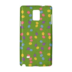 Balloon Grass Party Green Purple Samsung Galaxy Note 4 Hardshell Case by Nexatart