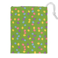 Balloon Grass Party Green Purple Drawstring Pouches (xxl) by Nexatart