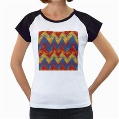 Aztec South American Pattern Zig Zag Women s Cap Sleeve T