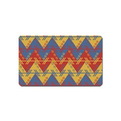 Aztec South American Pattern Zig Zag Magnet (name Card)