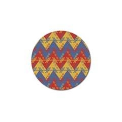 Aztec South American Pattern Zig Zag Golf Ball Marker (10 Pack) by Nexatart