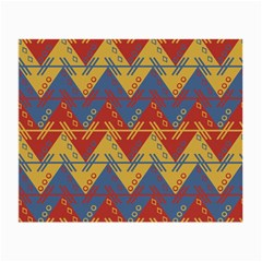 Aztec South American Pattern Zig Zag Small Glasses Cloth (2 Side) by Nexatart