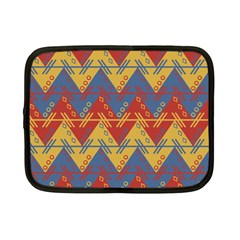 Aztec South American Pattern Zig Zag Netbook Case (small)  by Nexatart