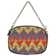 Aztec South American Pattern Zig Zag Chain Purses (two Sides)