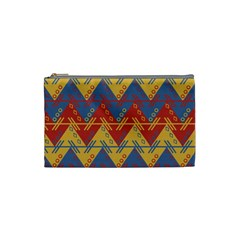 Aztec South American Pattern Zig Zag Cosmetic Bag (small)  by Nexatart
