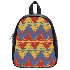 Aztec South American Pattern Zig Zag School Bags (small)  by Nexatart