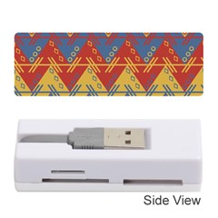 Aztec South American Pattern Zig Zag Memory Card Reader (stick)  by Nexatart