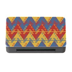 Aztec South American Pattern Zig Zag Memory Card Reader With Cf