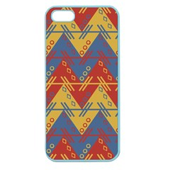 Aztec South American Pattern Zig Zag Apple Seamless Iphone 5 Case (color)