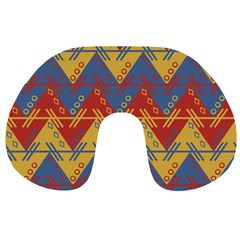 Aztec South American Pattern Zig Zag Travel Neck Pillows