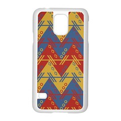 Aztec South American Pattern Zig Zag Samsung Galaxy S5 Case (white)