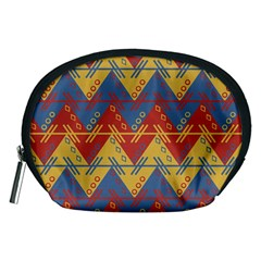 Aztec South American Pattern Zig Zag Accessory Pouches (medium)